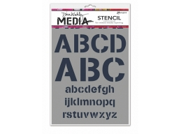 Alphabetic - Dina Wakley Media Line by Ranger - Stencil
