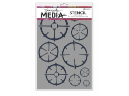 Wheels - Dina Wakley Media Line by Ranger - Stencil