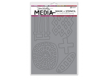 Graphic Shapes - Dina Wakley Media Line by Ranger - Mask & Stencil
