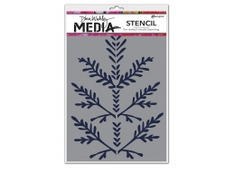 Boughs - Dina Wakley Media Line by Ranger - Stencil