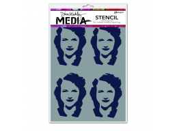 Four Women - Dina Wakley Media Line by Ranger - Stencil