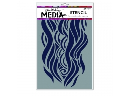 Mighty Wave - Dina Wakley Media Line by Ranger - Stencil