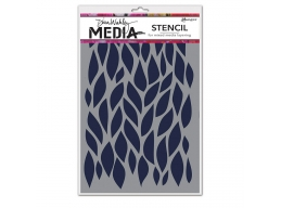 Big Leafy - Dina Wakley Media Line by Ranger - Stencil