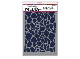 Cellular - Dina Wakley Media Line by Ranger - Stencil