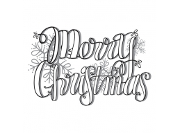 Merry Christmas - Spellbinders 3D Cling Stamp 2.5