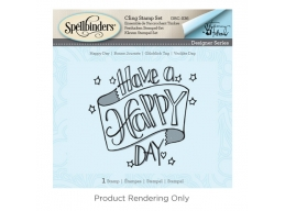 Tammy Tutterow Happy Day - Spellbinders 3D Cling Stamp 2.75