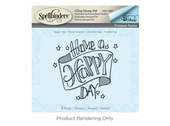 "Tammy Tutterow Happy Day - Spellbinders 3D Cling Stamp 2.75""X4"""