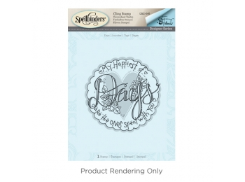 "Days - Spellbinders 3D Cling Stamp 4""X5.75"" By Tammy Tutterow"