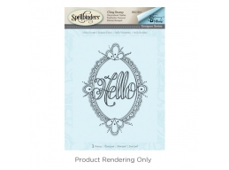 Hello Ornate - Spellbinders 3D Cling Stamp 3.75