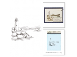 Lighthouse - Spellbinders 3D Cling Stamp 4