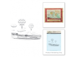 Hot Air - Spellbinders 3D Cling Stamp 4