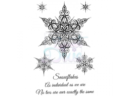 Sweet Dixie Large Snowflakes Clear Stamps