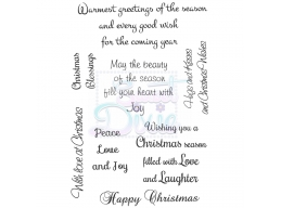 Sweet Dixie Warmest Greetings of the Season Clear Stamps