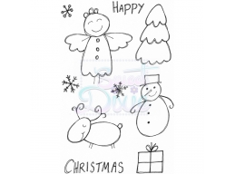 Sweet Dixie Christmas Characters Clear Stamps