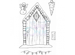 Sweet Dixie Christmas Fairy Door Clear Stamps
