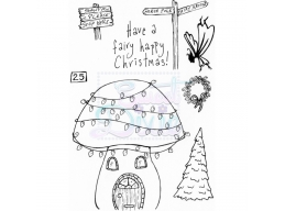 Sweet Dixie Fairy Happy Christmas Clear Stamps