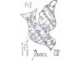 Sweet Dixie Wishing You Peace Clear Stamps