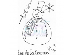 Sweet Dixie Jolly Fat Snowman Clear Stamps