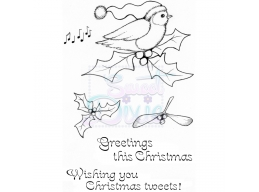Sweet Dixie Christmas Tweets Clear Stamps
