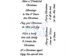 Sweet Dixie Have a Wonderful Christmas Clear Stamps
