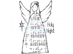 Sweet Dixie Holy Night Angel Clear Stamps