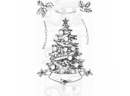Sweet Dixie Oh Christmas Tree Clear Stamp