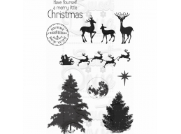 Sweet Dixie Christmas Winter Scene Clear Stamp