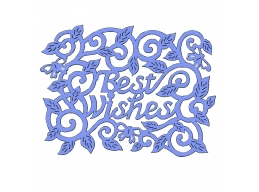 Best Wishes Swirls Leaves - Sweet Dixie Everyday Dies