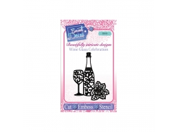 Wine Glass Celebration - Sweet Dixie Die Summer Collection