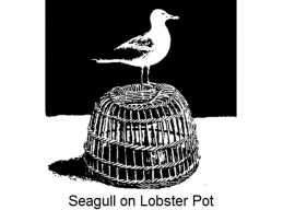 Art Stamps - Seagull on Lobster Pot