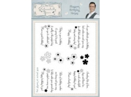 Blossom Birthday Verses A5 Clear Stamp Set
