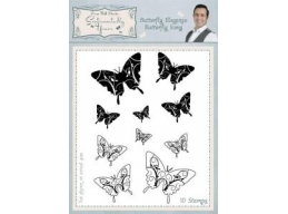 Butterfly Elegance Butterfly Icons Clear Stamp Set