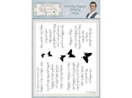 Butterfly Elegance Birthday Verses Clear Stamp Set
