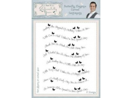 Butterfly Elegance Curved Sentiments Clear Stamp Set