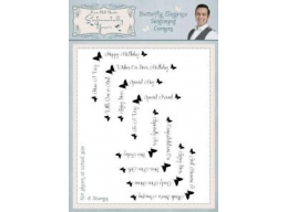 Butterfly Elegance Sentiments Corners Clear Stamp Set