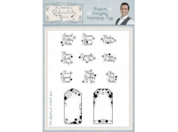 Blossom Everyday Sentiments Tags A5 Clear Stamp Set