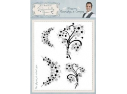Blossom Flourish & Corners Clear Stamp Set
