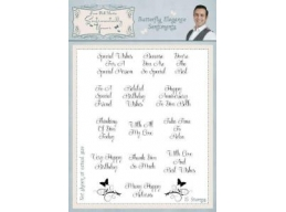 Butterfly Elegance Sentiments Clear Stamp Set