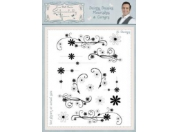 Dainty Daisies Flourishes & Corners A5 Clear Stamp Set