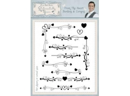 From The Heart Borders & Corners A5 Clear Stamp Set