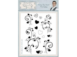From The Heart Flourishes A5 Clear Stamp Set