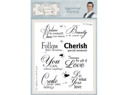 Inkspirational Sentiments A5 Clear Stamp Set