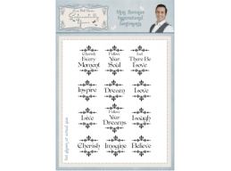 Mini Barouque Inspirational Sentiments A5 Clear Stamp Set