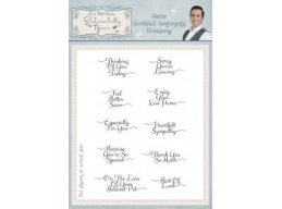 Petite Scribbled Sentiments Occasions A5 Clear Stamp Set