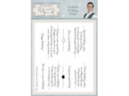 Scribbled Birthday Verses A5 Clear Stamp Set