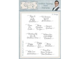 Scribbled Christmas Petite Sentiments Clear Stamp Set