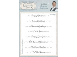 Scribbled Christmas Sentiments Clear Stamp Set