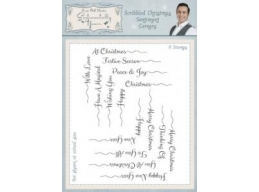 Scribbled Christmas Sentiments Corners Clear Stamp Set