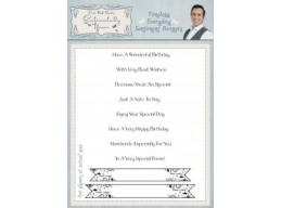 Timeless Everyday Sentiments Banner Clear Stamp Set