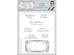 Timeless Everyday Sentiments Label Clear Stamp Set
